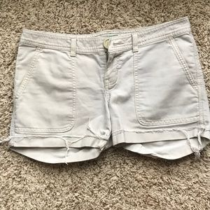 Distressed Exposed Hem Shorts